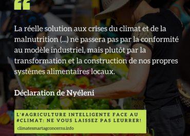 L'« agriculture intelligente face au climat » : un alibi pour ne rien changer ?