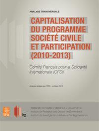 Capitalisation du programme Société Civile et Participation (2010-2013)