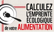Calculez l'empreinte écologique de votre alimentation !