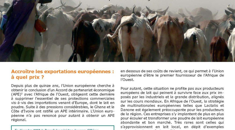 Réformer les politiques agricole et commerciale européennes