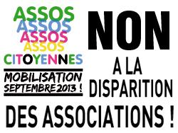 Non à la disparition des associations !