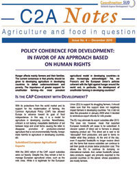 Cohérence des politiques et droit à l'alimentation