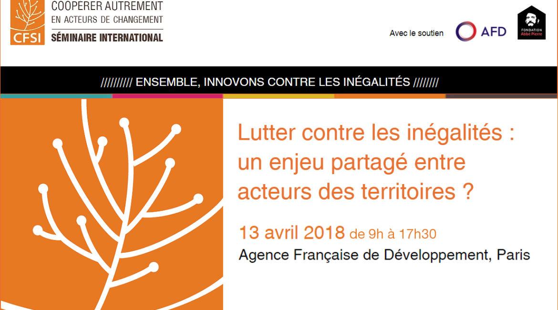 « Lutter contre les inégalités : un enjeu partagé entre acteurs des territoires ? »