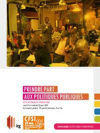 Prendre part aux politiques publiques