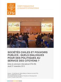 Sociétés civiles et pouvoirs publics : quels dialogues pour des politiques au service des citoyens ?