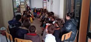 groupe d'enfants au centre d'écoute de l'Etoile culturelle d'Akbou