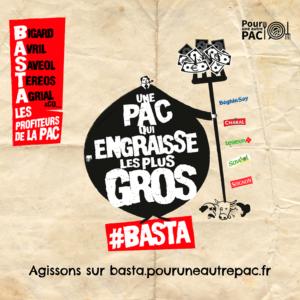 Visuel campagne Basta pour une autre Pac